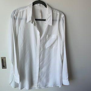 Babaton white button up shirt